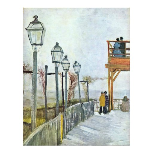 Montmartre In The Upper Mill By Vincent Van Gogh ( Full Color Flyer