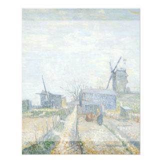 Montmartre Mills and Vegetable Gardens by Van Gogh 11.5 Cm X 14 Cm Flyer