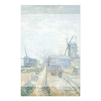 Montmartre Mills and Vegetable Gardens by Van Gogh 14 Cm X 21.5 Cm Flyer