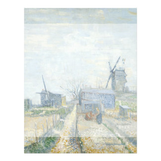 Montmartre Mills and Vegetable Gardens by Van Gogh 21.5 Cm X 28 Cm Flyer