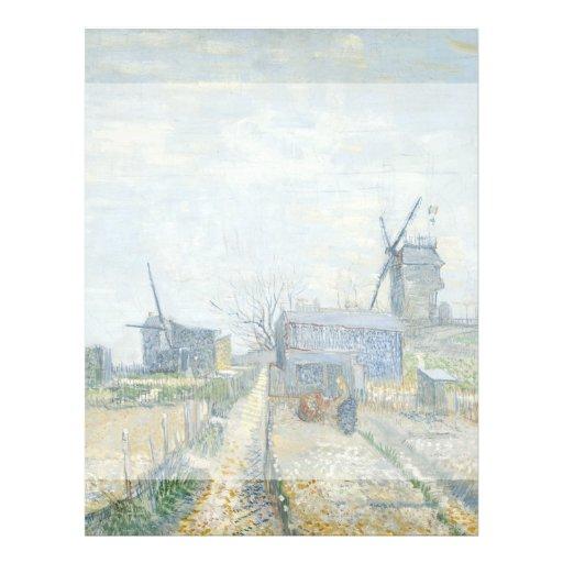Montmartre Mills and Vegetable Gardens by Van Gogh Full Color Flyer