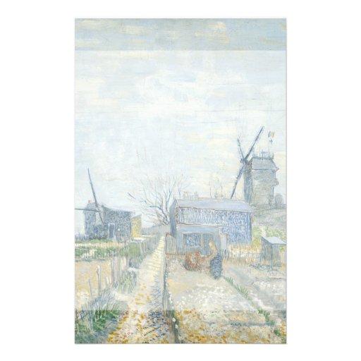 Montmartre Mills and Vegetable Gardens by Van Gogh Flyer