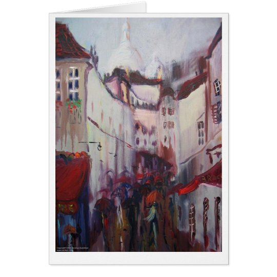 Montmartre, Paris Card
