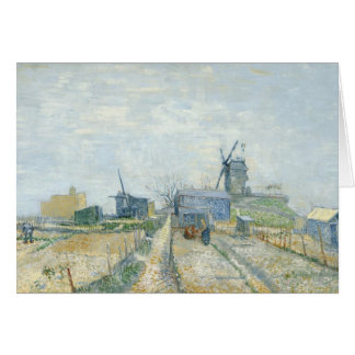 Montmartre windmills and allotments card