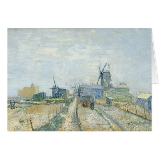 Montmartre: windmills and allotments card
