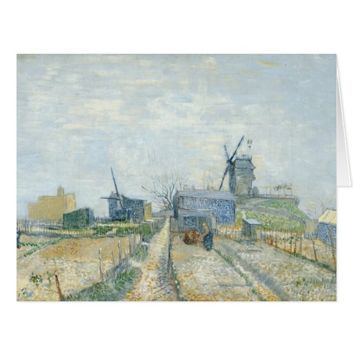 Montmartre: windmills and allotments greeting card