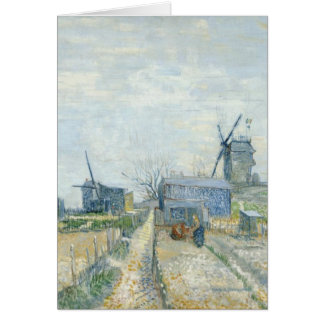 Montmartre windmills and allotments greeting card