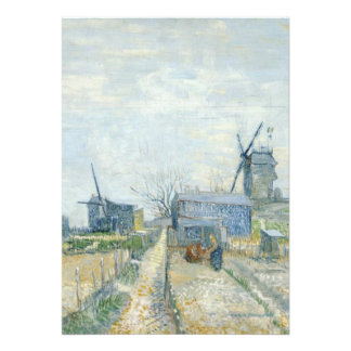 Montmartre windmills and allotments personalized announcement