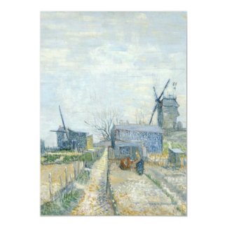 Montmartre: windmills and allotments 5x7 paper invitation card
