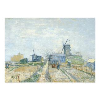 Montmartre windmills and allotments custom invitation