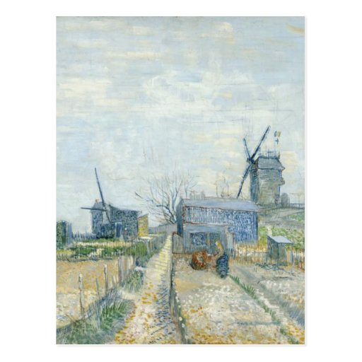 Montmartre: windmills and allotments post cards