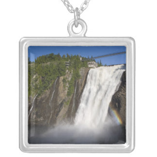 Montmorency Falls near Quebec City. Silver Plated Necklace