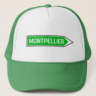 Montpellier, Road Sign, France Trucker Hat