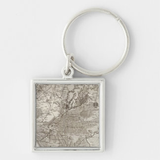 Montpellier Silver-Colored Square Key Ring