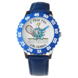 "Montre Licorne ""I Cannot, I have Tennis "" Watch"