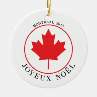 Montreal 2013 Christmas Ornament (Joyeux Noël)