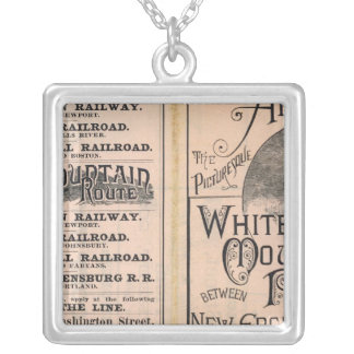 Montreal and Boston Air Line Silver Plated Necklace