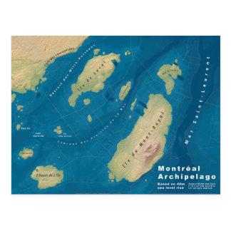 Montreal Archipelago--Sea Rise Map Postcard