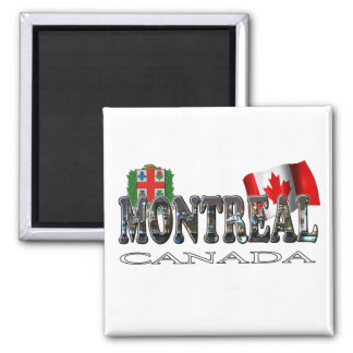 Montreal Canada Square Magnet