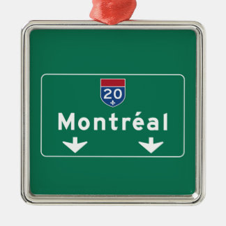 Montreal, Canada Road Sign Christmas Ornament