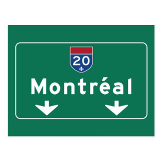 Montreal, Canada Road Sign Postcard