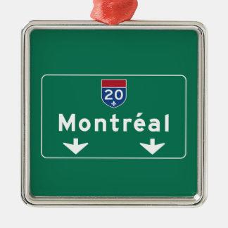 Montreal, Canada Road Sign Silver-Colored Square Decoration