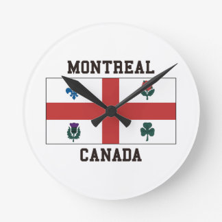 Montreal Canada Round Clock