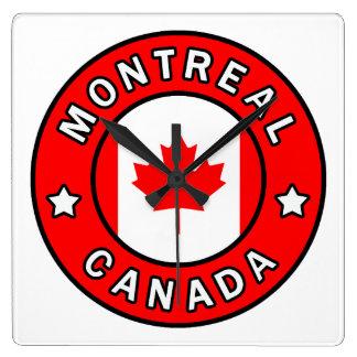 Montreal Canada Square Wall Clock