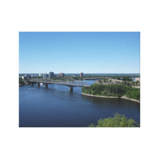 Montreal City River Bridge Canvas