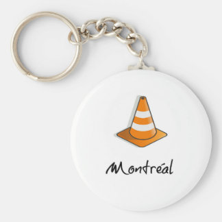 Montreal Construction Basic Round Button Key Ring