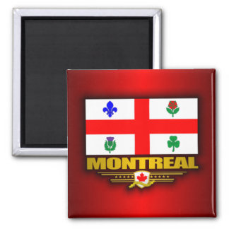 Montreal Flag Square Magnet