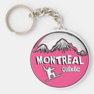 Montreal Quebec Canada pink snowboarder keychain