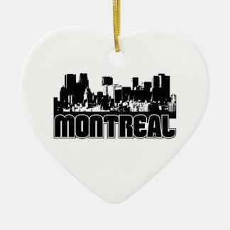 Montreal Skyline Christmas Ornament