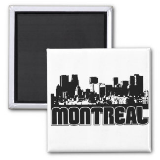Montreal Skyline Square Magnet