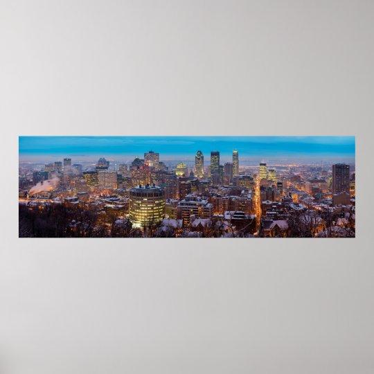 Montreal skyline poster