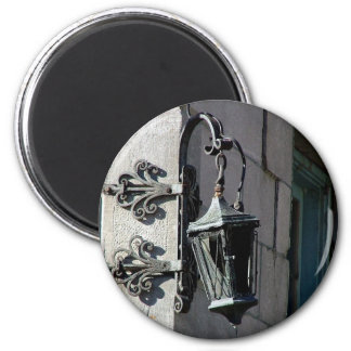 Montreal Street Lamp 6 Cm Round Magnet