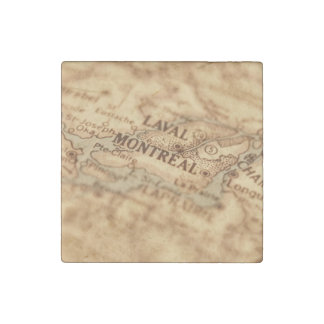 MONTREAL Vintage Map Stone Magnet