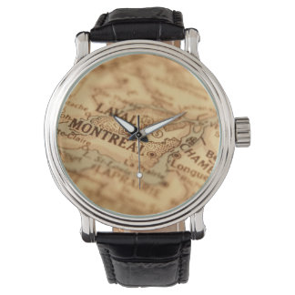 MONTREAL Vintage Map Watch