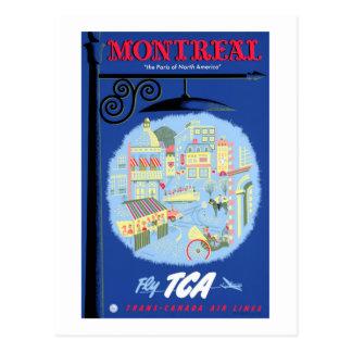 Montreal Vintage Travel Poster Restored Postcard