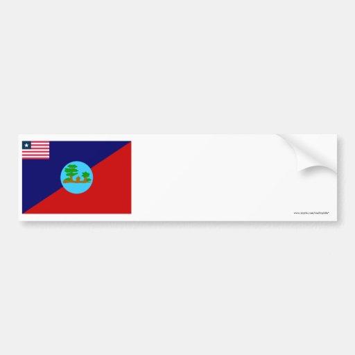 Montserrado County Flag Bumper Sticker