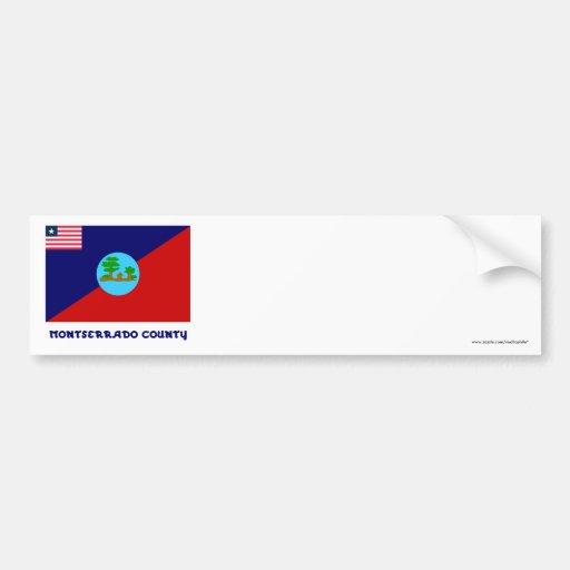 Montserrado County Flag with Name Bumper Stickers