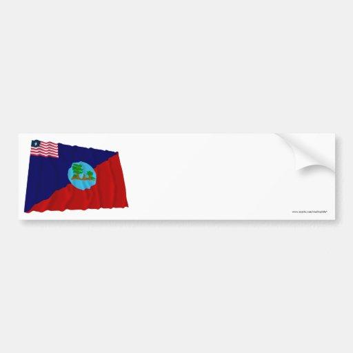 Montserrado County Waving Flag Bumper Sticker