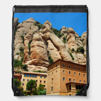 Montserrat Monastery, Catalonia, Spain Drawstring Bag
