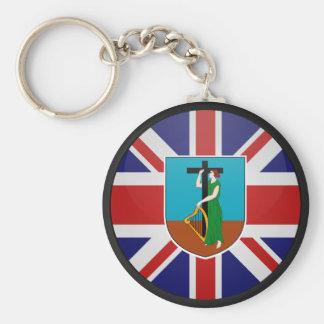 Montserrat quality Flag Circle Basic Round Button Key Ring