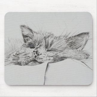 Monty sleepy boy mouse pad