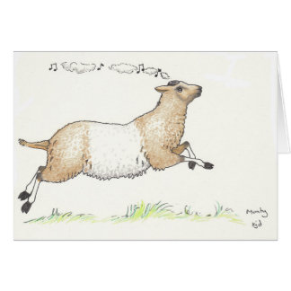 Monty the Whistling Sheep Card