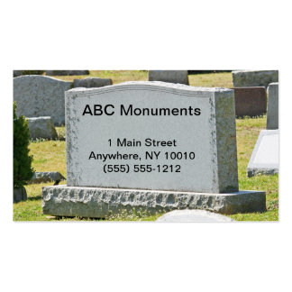 Monument Company Business Card