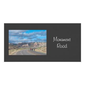 Monument Road Colorado Customized Photo Card
