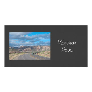 Monument Road Colorado Customized Photo Card