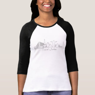 Monument Silhouettes, Travel Junkie, world travler T-Shirt